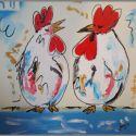 tuinkunst-gekakel-kippen